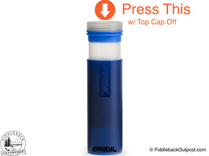 Grayl - Ultralight Water Bottle - Purifier [+Filter] - Blue - Fiddleback Outpost