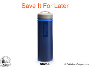 Grayl - Ultralight Water Bottle - Purifier [+Filter] - Blue