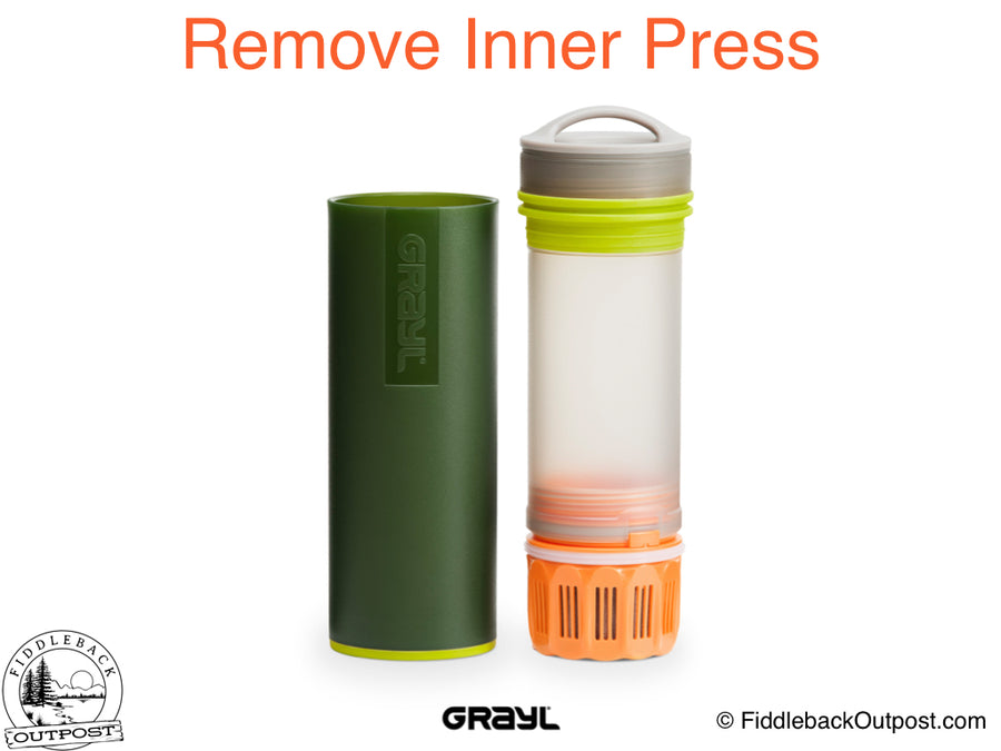 Grayl - Ultralight Water Bottle - Purifier [+Filter] - Green - Fiddleback Outpost