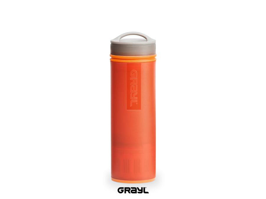 Grayl - Ultralight Water Bottle - Purifier [+Filter] - Orange - Fiddleback Outpost