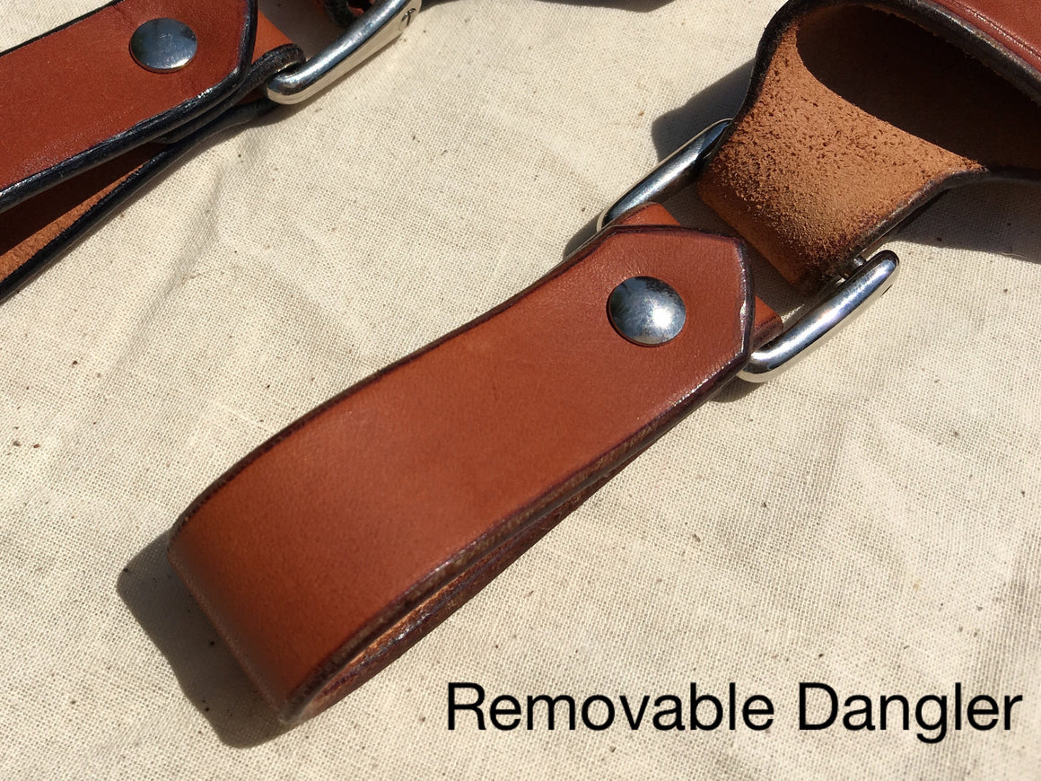 "Diomedes Industries - Trekker - Leather Sheath - 3"" to 3.5"" Blades - CUSTOM  - Fiddleback Outpost - Accessories - Sheath - 1"