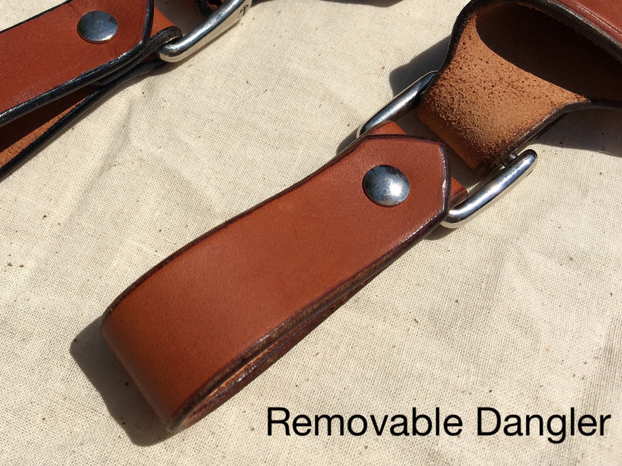 "Diomedes Industries - Trekker - Leather Sheath - 3"" to 3.5"" Blades - CUSTOM - Fiddleback Outpost"