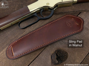Adjustable Shotgun Sling Pad - RLO Custom Leather - Fiddleback Outpost