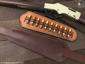 Adjustable Rifle Sling Pad - RLO Custom Leather - Fiddleback Outpost