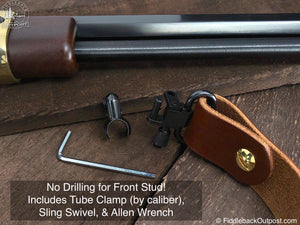 No Drill - Harnessed Rifle Sling - RLO Custom Leather - Fiddleback Outpost