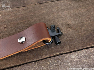Shotgun Sling - RLO Custom Leather - Fiddleback Outpost