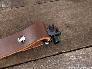 Rifle Sling - RLO Custom Leather - Fiddleback Outpost