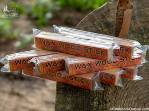Wax Wood Stick - High Heat Output Fire Tinder - 8pk