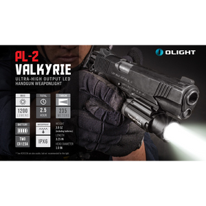 Olight - PL-2 Valkyrie - Weapon Light - Fiddleback Outpost
