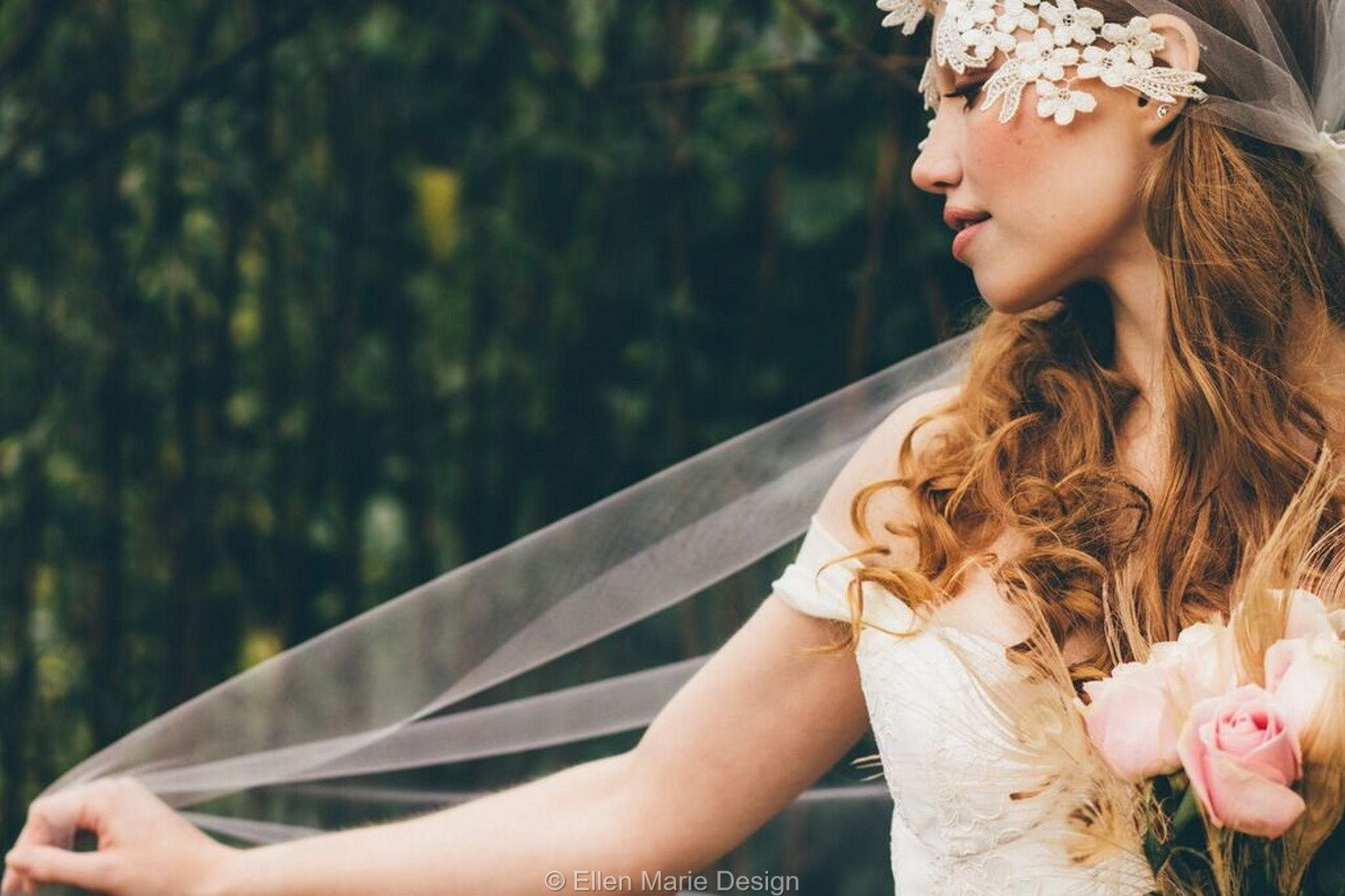 Ellen Marie Design Boho Wedding Veil
