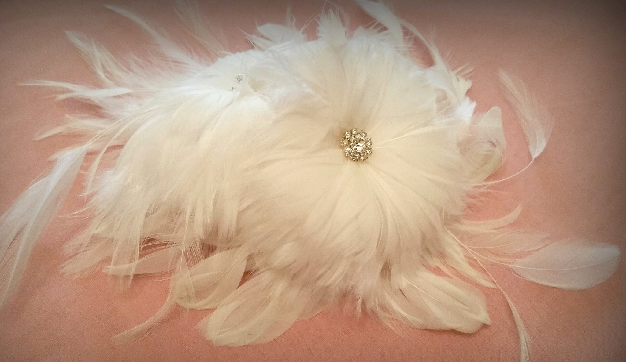 White Feather Fascinator - Ellen Marie Designs