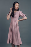 Ribbon Sleeve Dress