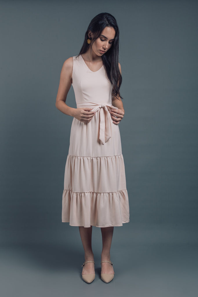 Sleeveless Tiered Dress
