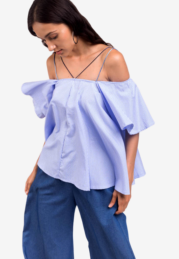 Off-Shoulder Top with Multiple Straps
