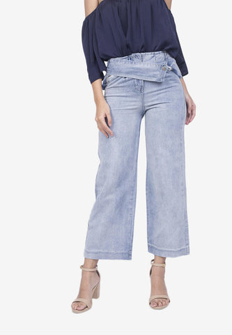 Cropped Jeans with Belt