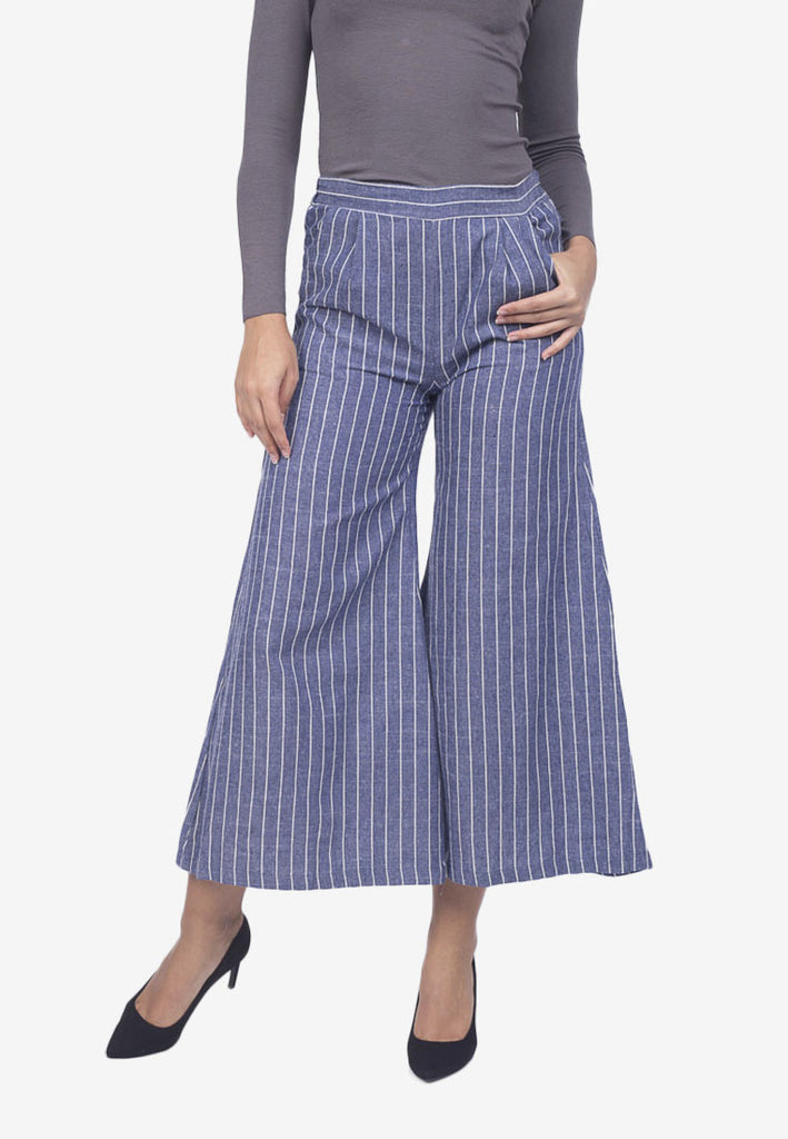 Stripe Chambray Pants