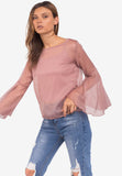 Sheer Flare Sleeve Top