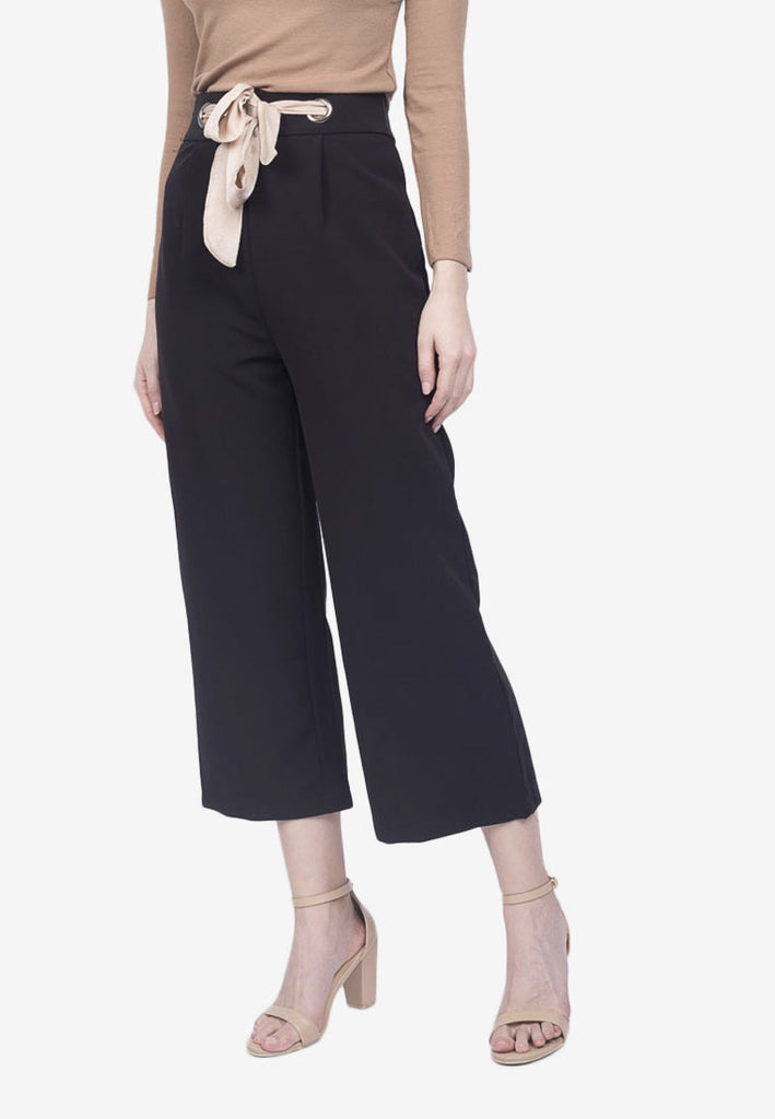Cropped Front Tie Pants
