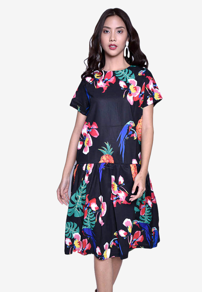 Tropical Midi Dress
