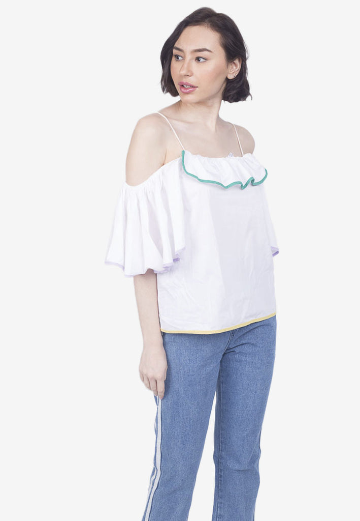Ruffled Off-Shoulder Top