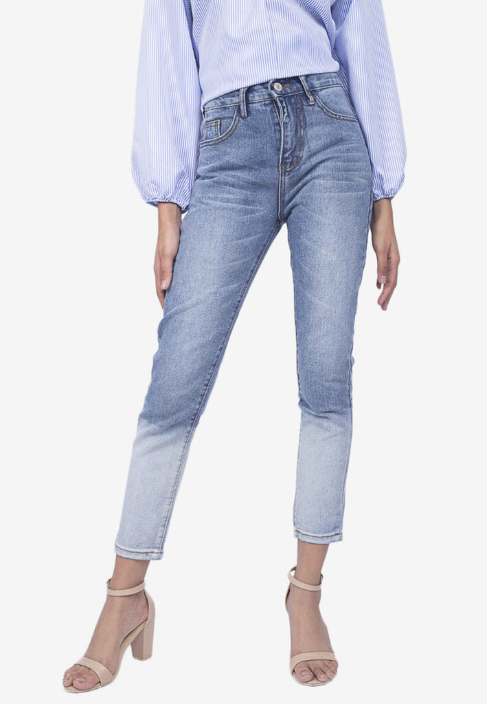 Two-Toned Wash Jeans
