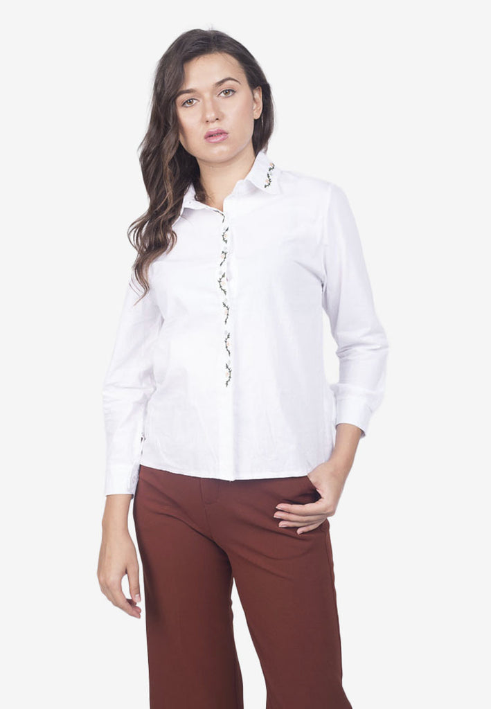 Button-Down Top with Detail