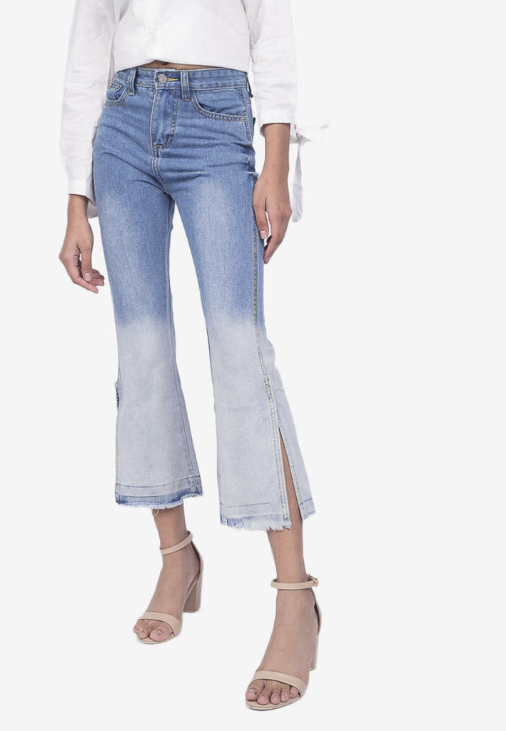 Two-Toned Wash Denim Jeans