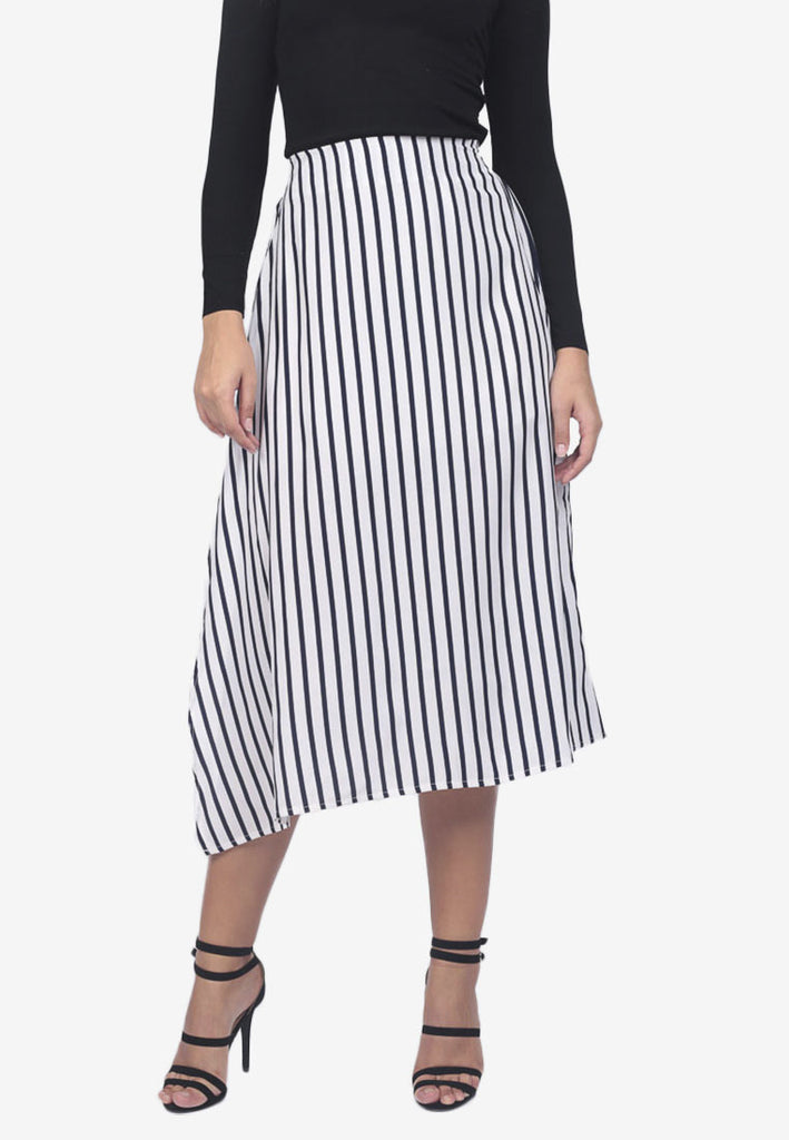 Asymmetrical Stripe Skirt