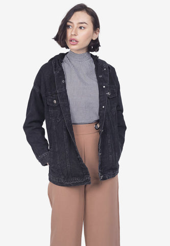 Denim Jacket with Removable Hoodie