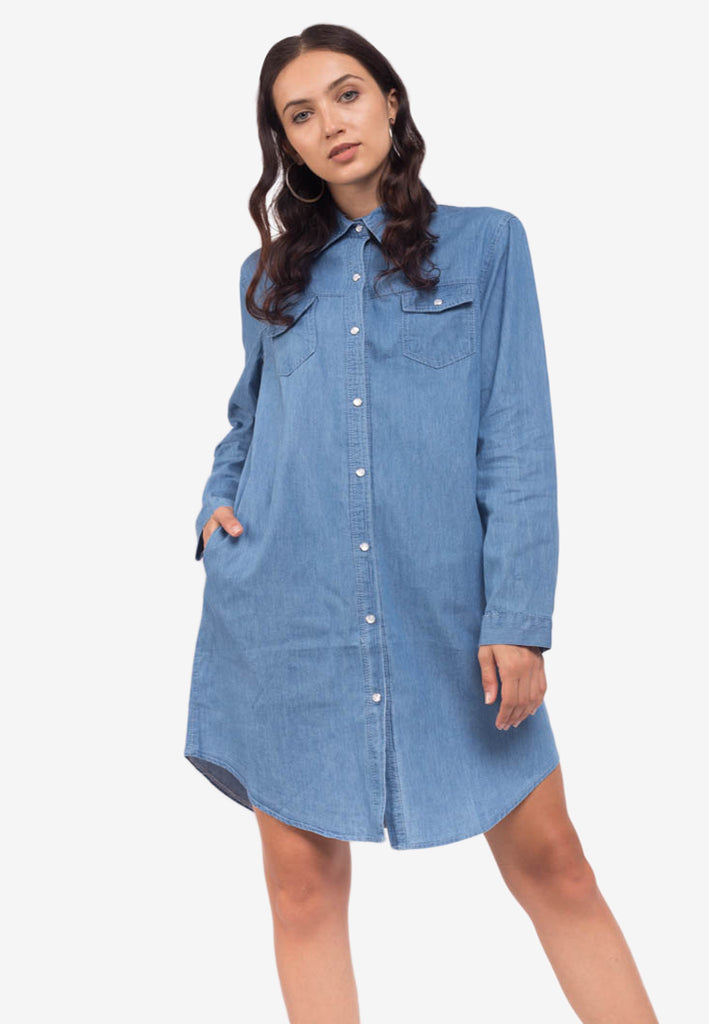 Cotton Button-Down Dress