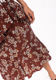 Floral Ruffled Skirt