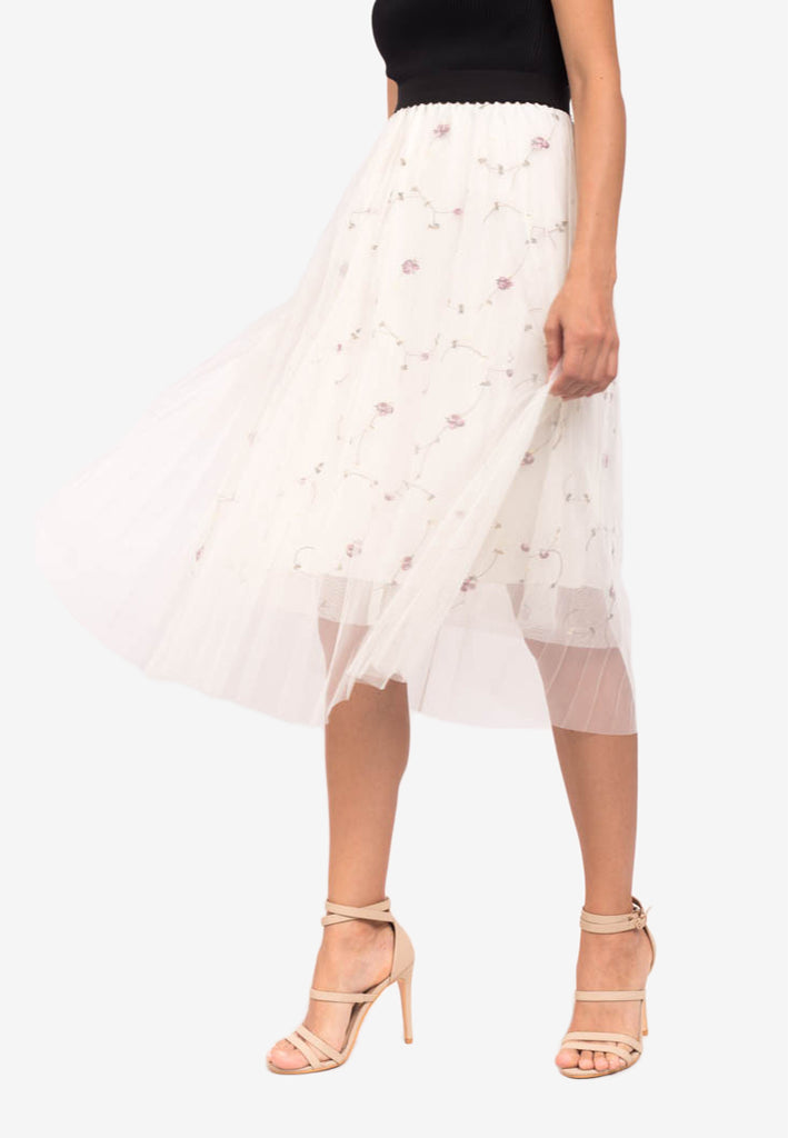 Floral Tulle Skirt