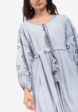 Embroidered Caftan Cape Dress