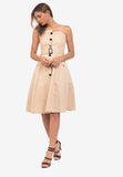 Belted Button Dress