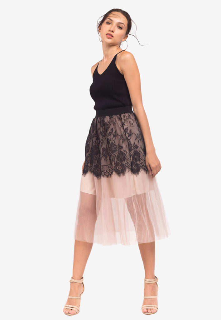 Tulle and Lace Skirt
