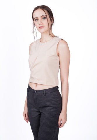 Back Buttoned Midriff Top