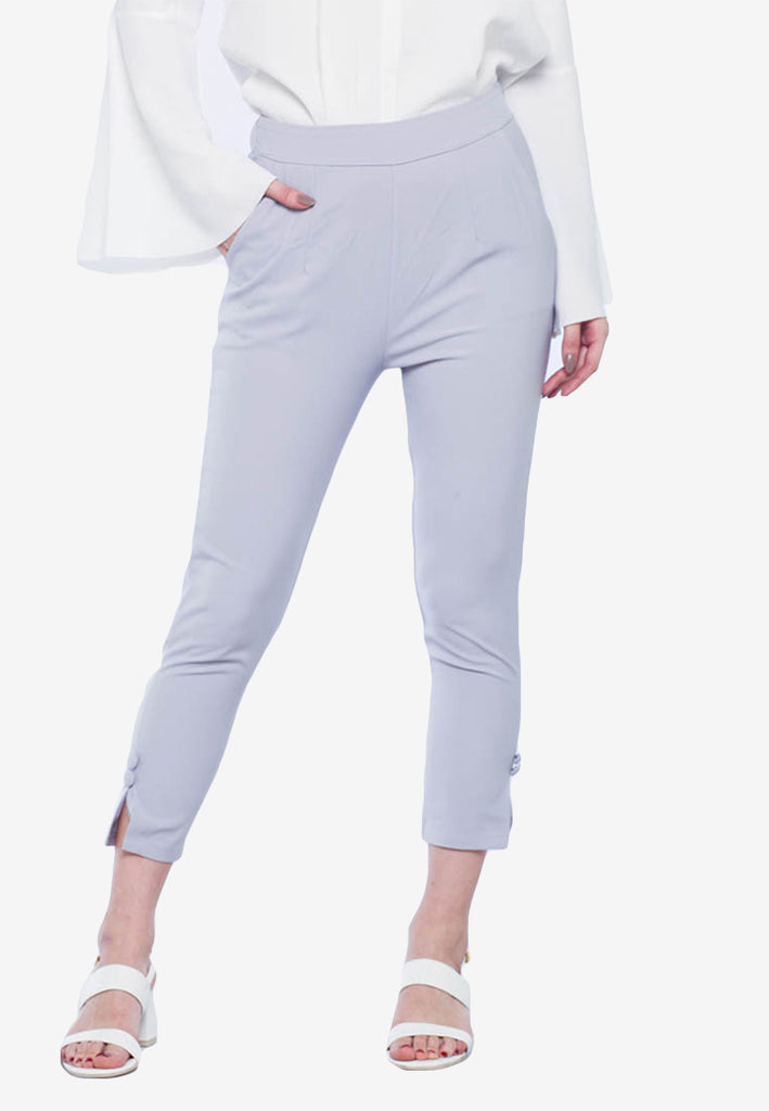 Buttoned Ankle Pants