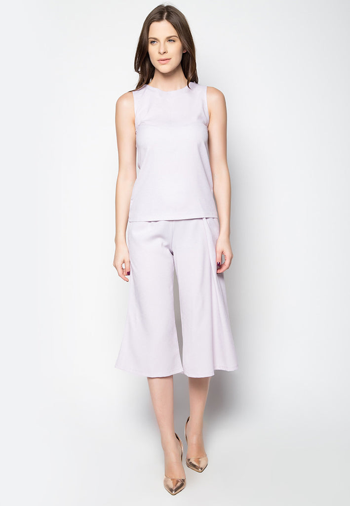 Minimalist Sleeveless Top and Pants Set - Caoros - 1