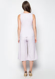 Minimalist Sleeveless Top and Pants Set - Caoros - 2