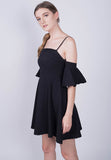 Flounce Open Shoulder Dress
