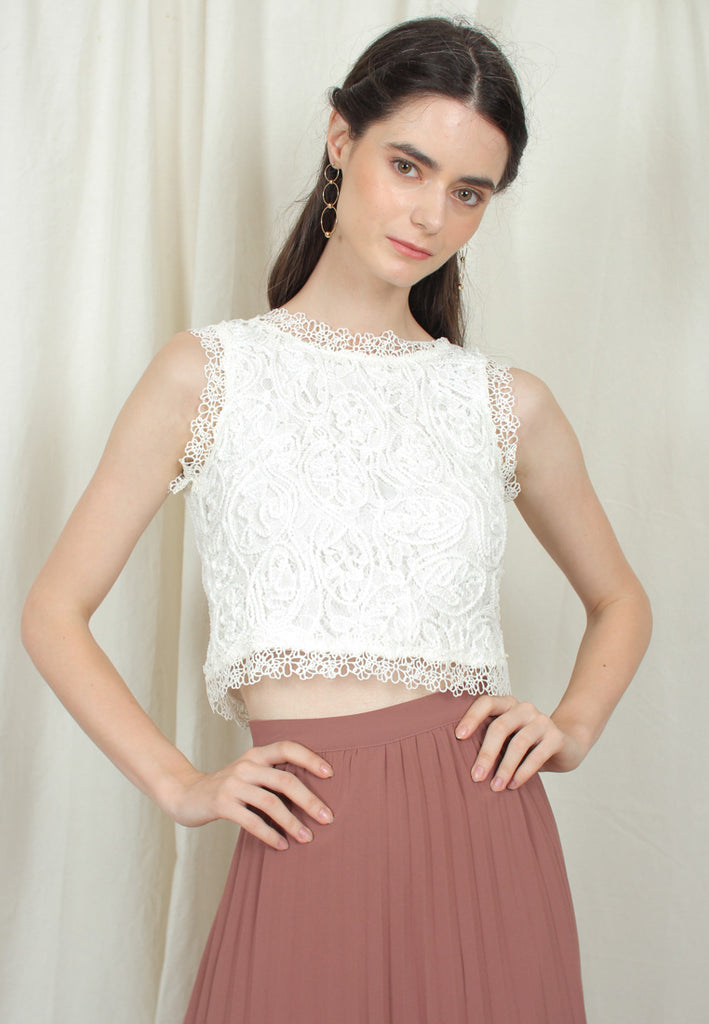 Regal Lace Crop Top