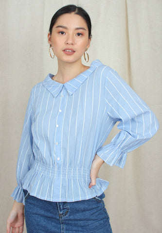 Collared Stripe Blouse