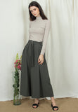Ankle-Length Belted Pants