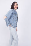 Cutout Denim Jacket