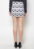 Printed Overlap Pencil Skirt - Caoros - 5
