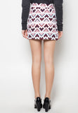 Printed Overlap Pencil Skirt - Caoros - 6