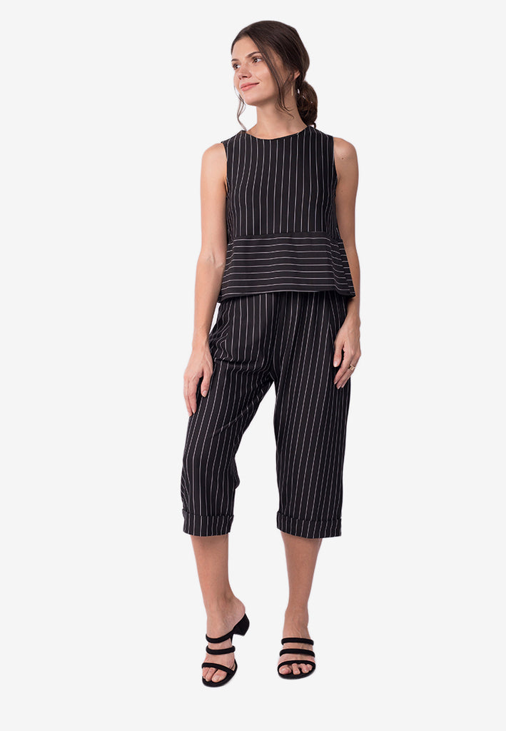 Striped Top with Pants Terno