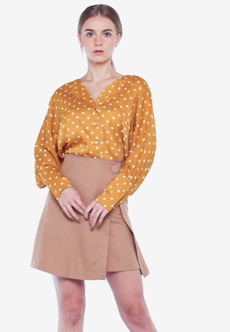 Polka Top with Skirt Set