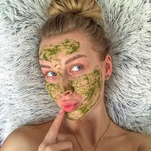 MARK Green tea face mask - with Neem and oat powder
