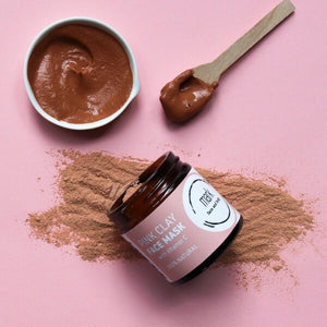 MARK Pink clay face mask - with Vitamin C and strawberry powder